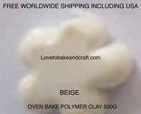 Polymer clay.  500g. Oven bake polymer clay, Beige, figurine clay,  Free worldwide shipping